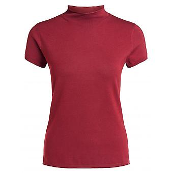 Oui Short Sleeved Polo Neck Sweater - 65266