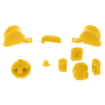 Clear yellow replacement button set mod kit for nintendo gamecube controllers | zedlabz
