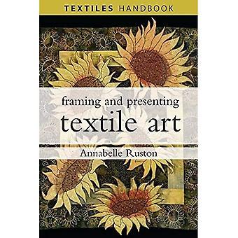Tekstiili taiteen (tekstiilien käsi kirjat) kehystäminen ja esittäminen