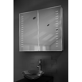 Yalena LED kylpyhuoneen kaappi huurteenpoistolaitetta Pad, anturi & parranajokone k364