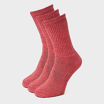 Nowy Peter Storm Kobiety's 3 Pack Essential Sock Red