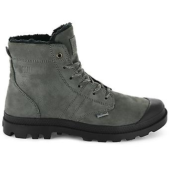 Palladium Pallabrousse Leather S 05981-064-M Men's Boots Grey Sneakers Sports Shoes