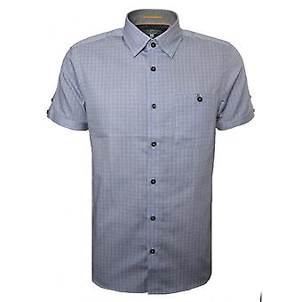 Ted Baker mannen Lorenze blauwe korte mouwen Shirt