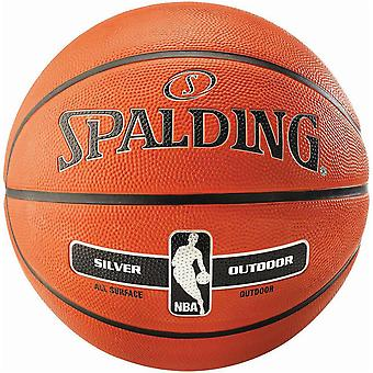Spalding NBA Silver Outdoor Basketball Taglia 6