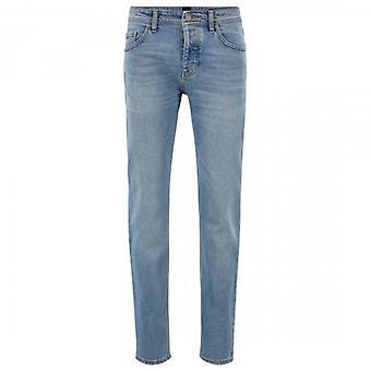 Boss Orange Hugo Boss Delaware BC-L-C Earth Light Blue Distressed Slim Fit Jeans 425 50404561