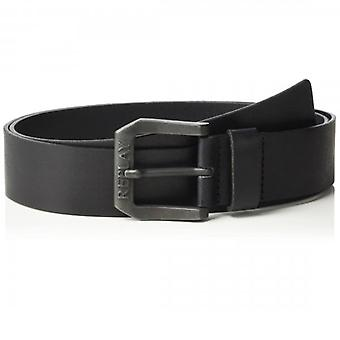 Replay Black Leather Belt AM2417 A3001 098