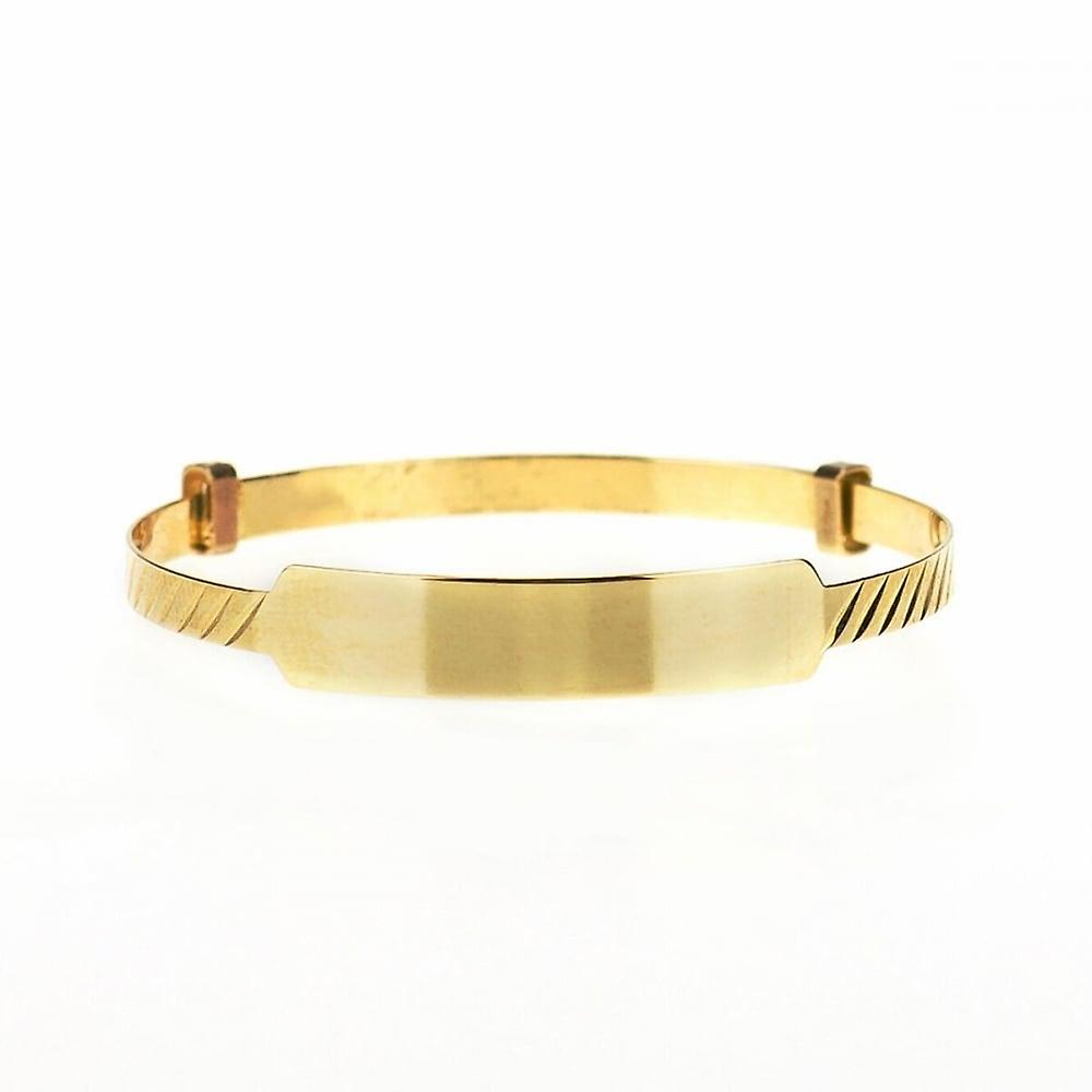 Eternity 9ct Gold Baby/Kids Expanding ID Bangle