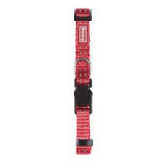 Freedog Red nylon reflective collar for dogs