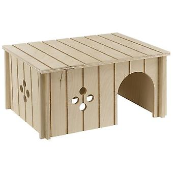 Ferplast Wooden Hut No 4646 (Small pets , Cage Accessories , Maisonnettes et Tunnels)