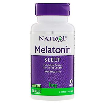 Natrol melatonin, 1 mg, tablets, 180 ea