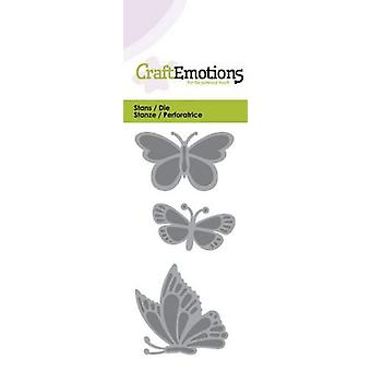 CraftEmotions يموت -- بطاقة الفراشات 5x10cm