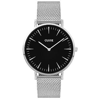 Cluse Watches Cw0101201004 La Boheme Black & Silver Mesh Ladies Watch