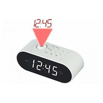 Horloge d'alarme de radio avec projecteur d'écran LCD Denver Electronics CRP-717 LED Noir blanc