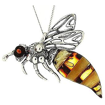 """Das Olivia Collection Sterlingsilber Bumble Bee Anhänger auf 18"""" Kette"""