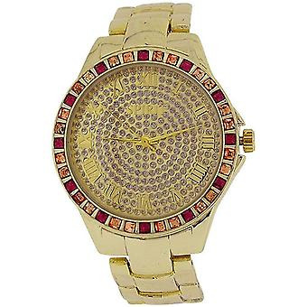 Spirit Ladies Elegant Crystal Bezel Goldtone Bracelet Strap Watch ASPL90