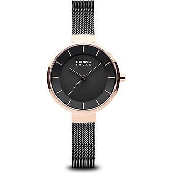 Bering-Wristwatch-Women-Solar-roségold shiny-14631-166