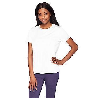 Hanes Sport Women's Short Sleeve Cool DRI Performance Tee,, White, Size Medium