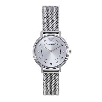 Armani Watches Ar11128 Kappa Silver Steel Mesh Ladies Bracelet Watch