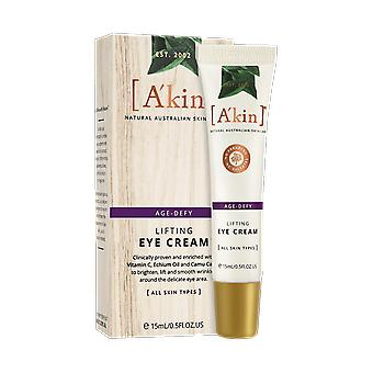 A&kin Age-Defy Lifting Eye Cream Natural Anti Wrinkle Skin Care Lotion 15ml