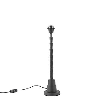 QAZQA Art Deco table lamp black without shade - Pisos