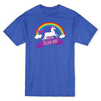 Dies ist meine Tötung Shirt Rainbow Unicorn Herren T-shirt