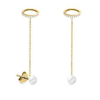 Ohrringe böhmische Perlen 18K Gold