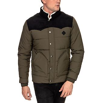 Jack & Jones Men's Luck Originals Puffer Jacket Khaki