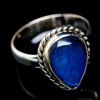 Kyanite Ring Size 8.5 (925 Sterling Silver)  - Handmade Boho Vintage Jewelry RING5410