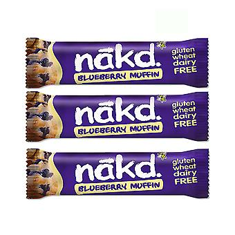 Naked Health Bars Pack van 9 Raw Fruit Nut Bar Vegan Geen toegevoegde suiker (Bluberry Muffin)