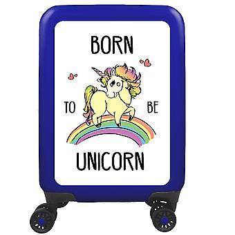 myTrolley Born To Be Unicorn S, 4 wheels, 55 cm, 32 L, Blue