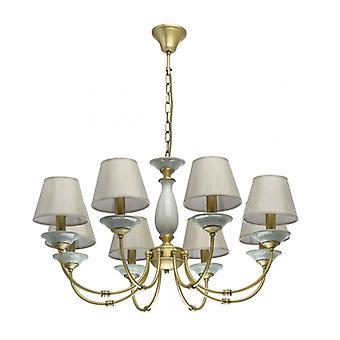 Classic Brass Pendant Light 8 Bulbs Diameter 78 Cm