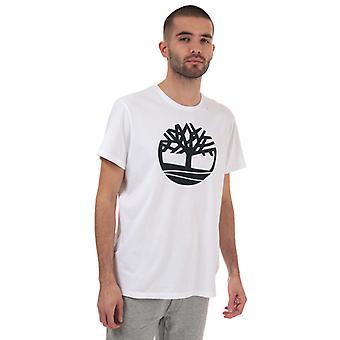 Mænd's Timberland Brand Tree T-shirt i hvid