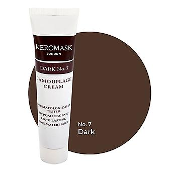 Keromask Full Cover Concealer Dark No 7 | Waterproof Camouflage Makeup | Hypoallergenic | 15ml