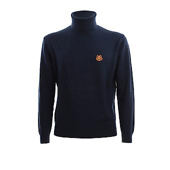Kenzo Fa65pu5383ta76 Men's Blue Wool Sweater