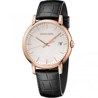Calvin Klein K9H216C6 Minimal Quartz Silver Dial Men's Watch