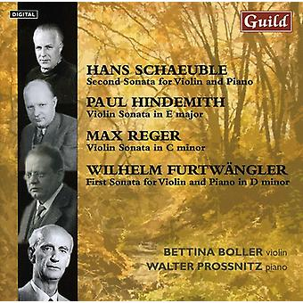 Schaeuble/Hindemith/Reger - Schaeuble, Hindemith, Reger, Furtw Ngler: Violin Sonatas [CD] USA import
