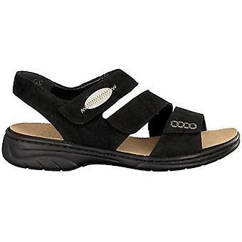 Rieker schwarz svarta sandaler kvinnors svart 004