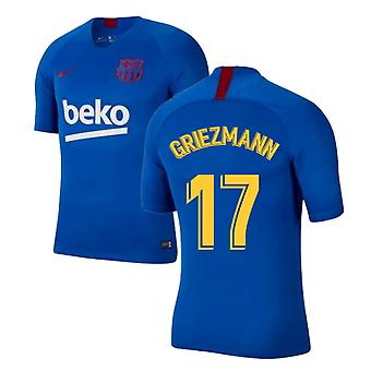 2019-2020 Barcelona Nike Training Shirt (Blue) (Griezmann 17)
