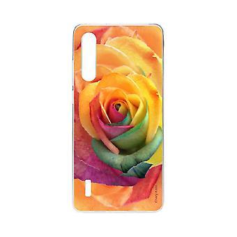 Hull For Xiaomi Mi 9 Lite Myk Rosa Fargerik Blomst