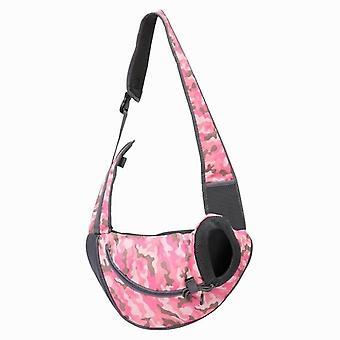 Breathable Pet Carrier Outdoor Travel Handbag, Mesh Oxford Single Shoulder Bag