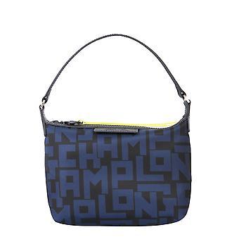 Longchamp 10039412h05 Women's Blue/black Polyester Shoulder Bag