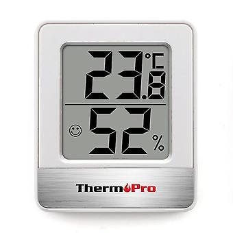 Mini Wetterstation Schwarz Weiß - Zimmer Thermometer Hygrometer | Temperaturmessgerät