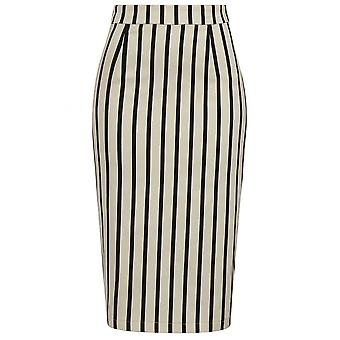 Collectif Clothing Polly Ghost Stripe Pencil Skirt