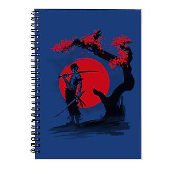 One Piece Swordsman Pirate Spiral Notebook