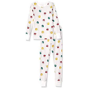 Essentials Kids Long-Sleeve Tight-Fit 2-Piece Pajama Set, Cozy Frenchi...