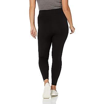Daily Ritual Women's Plus Size Ponte Knit Legging, Black, 1X Regular