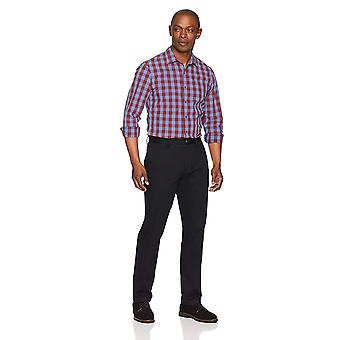 Essentials Heren's Slim-Fit Wrinkle-Resistant Flat-Front Chino Pant, Zwart, 31W x 29L