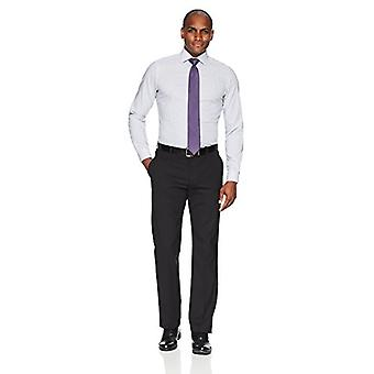 BUTTONED أسفل الرجال & ق تناسب تناسب انتشار طوق نمط غير الحديد اللباس قميص, ...