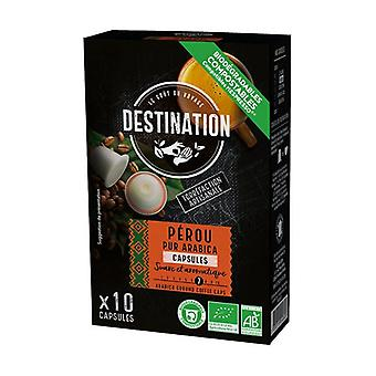 Biodegradable Capsules Pur Arabica Peru Bio 10 capsules of 5.5g