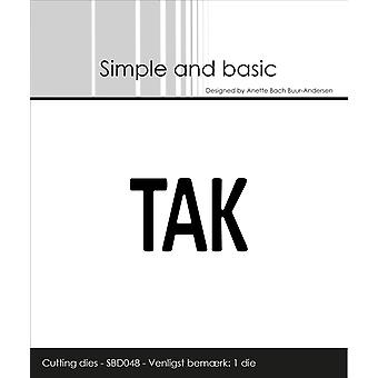 Simple and Basic Text Plate Tak Die